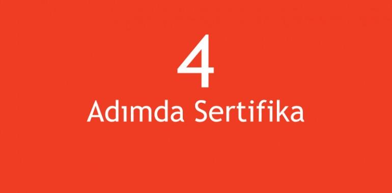4 Adımda Sertifika
